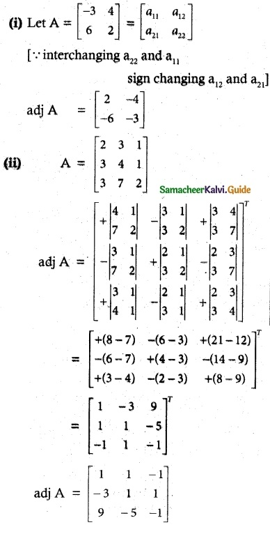 Samacheer Kalvi 12th Maths Guide Chapter 1 Applications of Matrices and Determinants Ex 1.1 2
