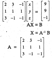 Samacheer Kalvi 12th Maths Guide Chapter 1 Applications of Matrices and Determinants Ex 1.3 3