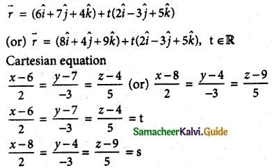 Samacheer Kalvi 12th Maths Guide Chapter 6 Applications of Vector Algebra Ex 6.4 3