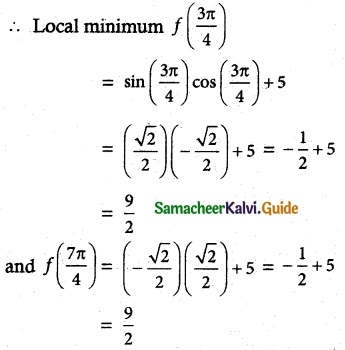 Samacheer Kalvi 12th Maths Guide Chapter 7 Applications of Differential Calculus Ex 7.6 7