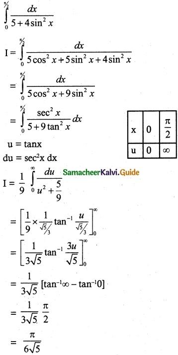 Samacheer Kalvi 12th Maths Guide Chapter 9 Applications of Integration Ex 9.5 2