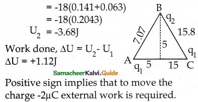 Samacheer Kalvi 12th Physics Guide Chapter 1 Electrostatics 88