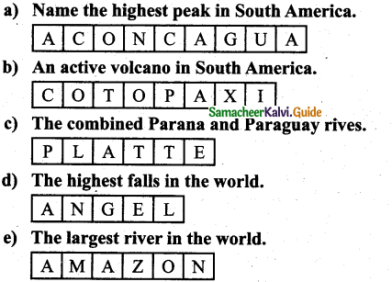 Samacheer Kalvi 7th Social Science Guide Geography Term 3 Chapter 1 Exploring Continents – North America and South America 1
