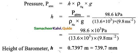 Samacheer Kalvi 9th Science Guide Chapter 3 Fluids 4