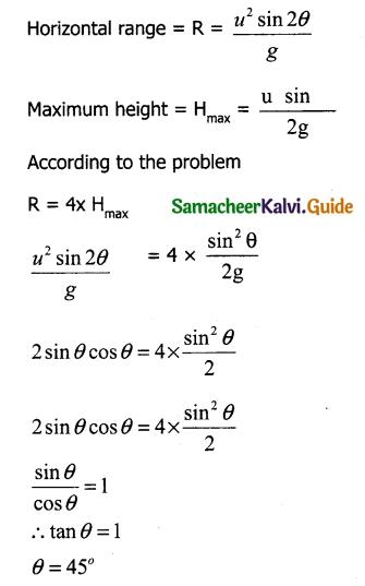 Samacheer Kalvi 11th Physics Guide Chapter 2 Kinematics 45