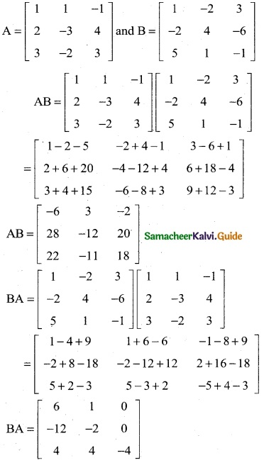 Samacheer Kalvi 12th Business Maths Guide Chapter 1 Applications of Matrices and Determinants Ex 1.1 5