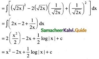 Samacheer Kalvi 12th Business Maths Guide Chapter 2 Integral Calculus I Ex 2.2 1