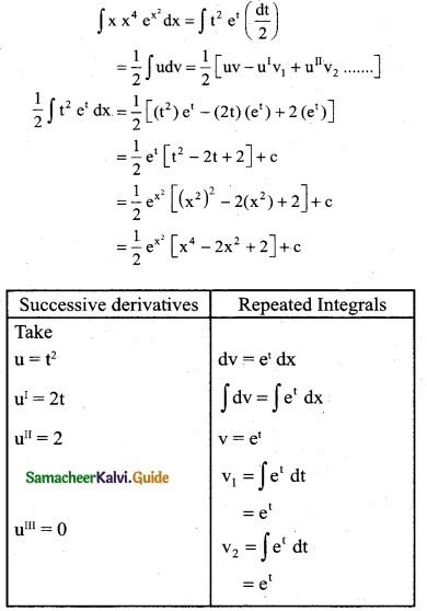 Samacheer Kalvi 12th Business Maths Guide Chapter 2 Integral Calculus I Ex 2.5 6
