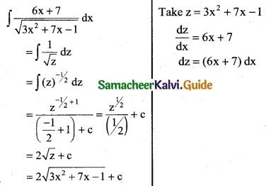 Samacheer Kalvi 12th Business Maths Guide Chapter 2 Integral Calculus I Ex 2.6 4