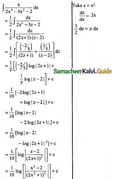 Samacheer Kalvi 12th Business Maths Guide Chapter 2 Integral Calculus I Ex 2.6 8
