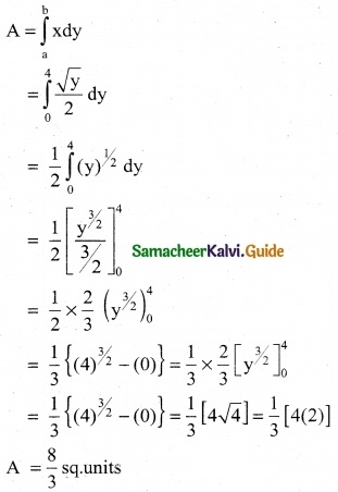 Samacheer Kalvi 12th Business Maths Guide Chapter 3 Integral Calculus II Ex 3.1 8