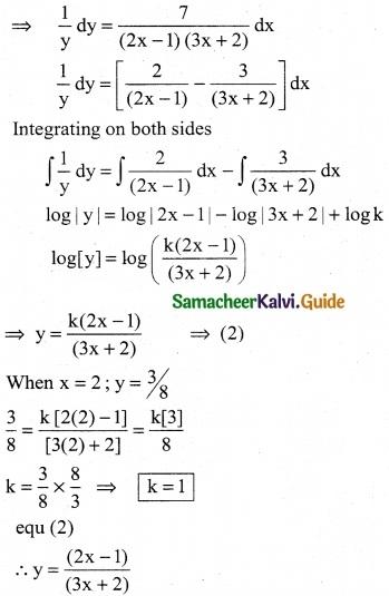 Samacheer Kalvi 12th Business Maths Guide Chapter 3 Integral Calculus II Ex 3.2 2