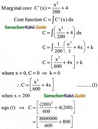 Samacheer Kalvi 12th Business Maths Guide Chapter 3 Integral Calculus II Ex 3.2 7