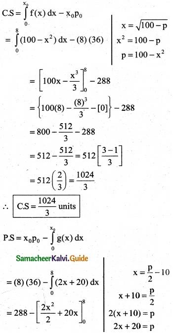 Samacheer Kalvi 12th Business Maths Guide Chapter 3 Integral Calculus II Ex 3.3 10
