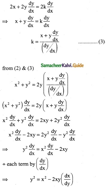 Samacheer Kalvi 12th Business Maths Guide Chapter 4 Differential Equations Ex 4.1 9
