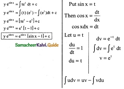 Samacheer Kalvi 12th Business Maths Guide Chapter 4 Differential Equations Ex 4.4 3