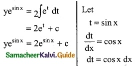 Samacheer Kalvi 12th Business Maths Guide Chapter 4 Differential Equations Miscellaneous Problems 10