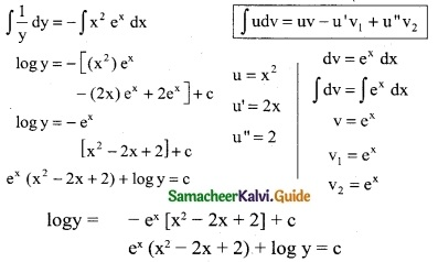 Samacheer Kalvi 12th Business Maths Guide Chapter 4 Differential Equations Miscellaneous Problems 4