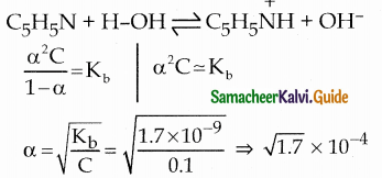 Samacheer Kalvi 12th Chemistry Guide Chapter 8 Ionic Equilibrium 4