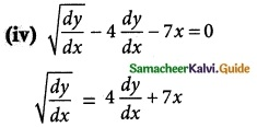 Samacheer Kalvi 12th Maths Guide Chapter 10 Ordinary Differential Equations Ex 10.1 1