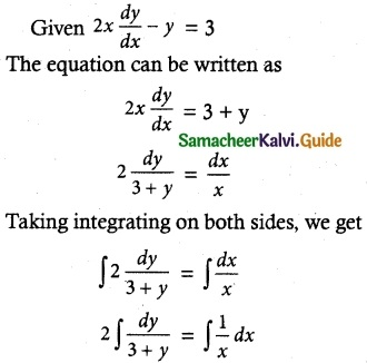 Samacheer Kalvi 12th Maths Guide Chapter 10 Ordinary Differential Equations Ex 10.9 4