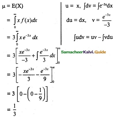 Samacheer Kalvi 12th Maths Guide Chapter 11 Probability Distributions Ex 11.4 14