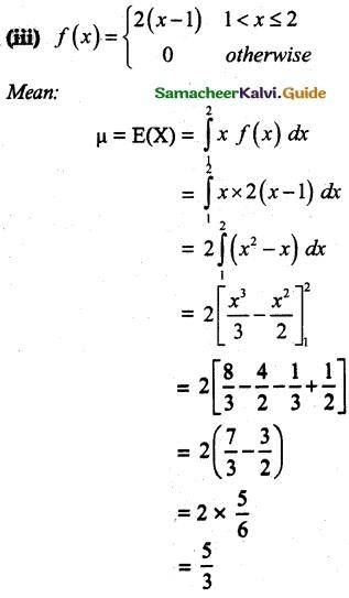Samacheer Kalvi 12th Maths Guide Chapter 11 Probability Distributions Ex 11.4 5