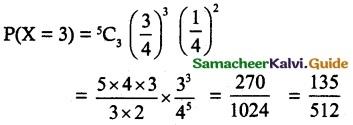 Samacheer Kalvi 12th Maths Guide Chapter 11 Probability Distributions Ex 11.5 5