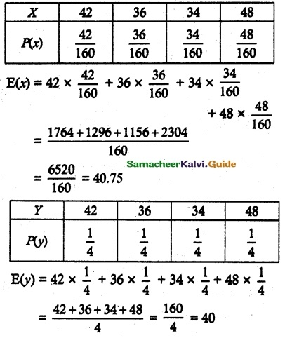 Samacheer Kalvi 12th Maths Guide Chapter 11 Probability Distributions Ex 11.6 7