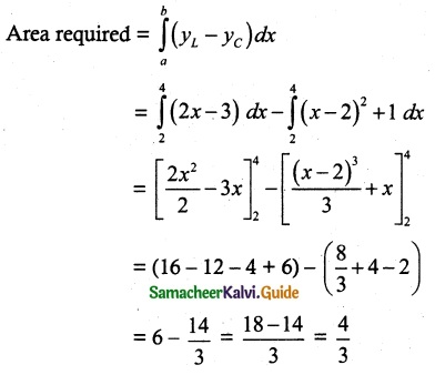 Samacheer Kalvi 12th Maths Guide Chapter 9 Applications of Integration Ex 9.8 13