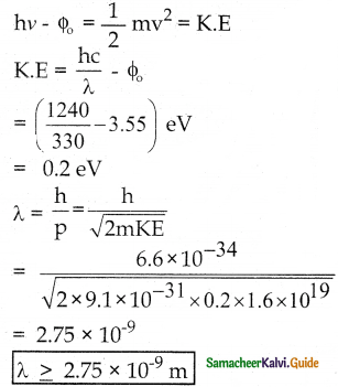 Samacheer Kalvi 12th Physics Guide Chapter 7 Dual Nature of Radiation and Matter 5