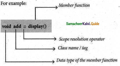 Samacheer Kalvi 11th Computer Science Guide Chapter 14 Classes and Objects 9