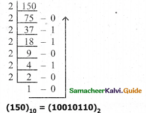 Samacheer Kalvi 11th Computer Science Guide Chapter 2 Number Systems 4