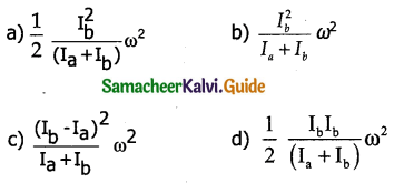 Samacheer Kalvi 11th Physics Guide Chapter 5 Motion of System of Particles and Rigid Bodies 1
