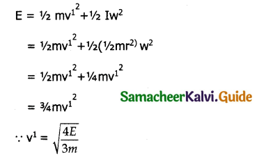 Samacheer Kalvi 11th Physics Guide Chapter 5 Motion of System of Particles and Rigid Bodies 70