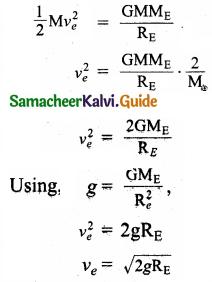 Samacheer Kalvi 11th Physics Guide Chapter 6 Gravitation 20
