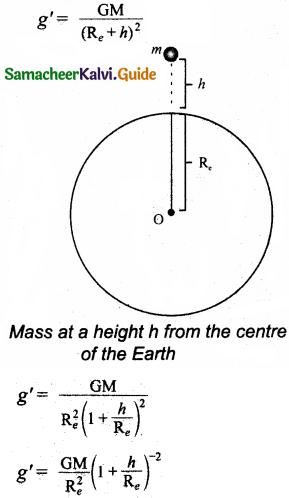 Samacheer Kalvi 11th Physics Guide Chapter 6 Gravitation 23