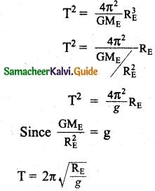 Samacheer Kalvi 11th Physics Guide Chapter 6 Gravitation 28