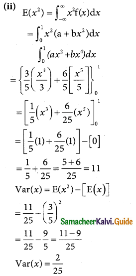 Samacheer Kalvi 12th Business Maths Guide Chapter 6 Random Variable and Mathematical Expectation Miscellaneous Problems 8