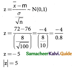 Samacheer Kalvi 12th Business Maths Guide Chapter 8 Sampling Techniques and Statistical Inference Ex 8.2 2