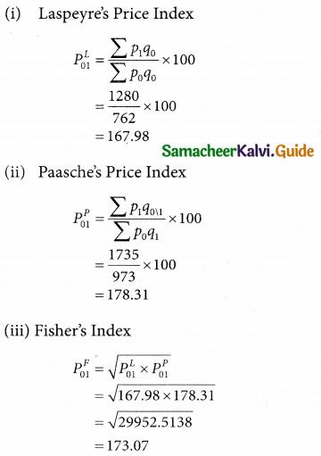 Samacheer Kalvi 12th Business Maths Guide Chapter 9 Applied Statistics Ex 9.2 8