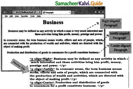 Samacheer Kalvi 11th Computer Applications Guide Chapter 10 HTML – Structural Tags 14