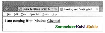 Samacheer Kalvi 11th Computer Applications Guide Chapter 11 HTML – Formatting Text, Creating Tables, List and Links 42