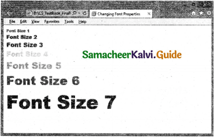 Samacheer Kalvi 11th Computer Applications Guide Chapter 11 HTML – Formatting Text, Creating Tables, List and Links 47