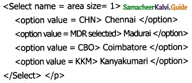 Samacheer Kalvi 11th Computer Applications Guide Chapter 12 HTML – Adding Multimedia Elements and Forms 2