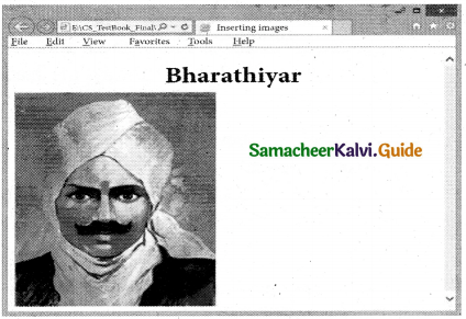 Samacheer Kalvi 11th Computer Applications Guide Chapter 12 HTML – Adding Multimedia Elements and Forms 6