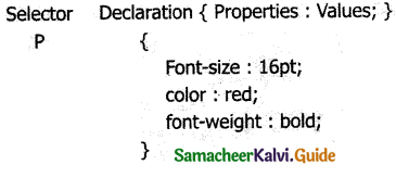 Samacheer Kalvi 11th Computer Applications Guide Chapter 13 CSS – Cascading Style Sheets 3