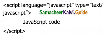 Samacheer Kalvi 11th Computer Applications Guide Chapter 14 Introduction to Javascript 1
