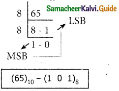Samacheer Kalvi 11th Computer Applications Guide Chapter 2 Number Systems 17