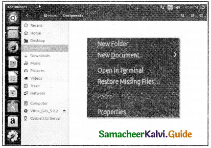 Samacheer Kalvi 11th Computer Applications Guide Chapter 5 Working with Typical Operating System (Windows & Linux) 22